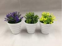 Artificial Flower white pot