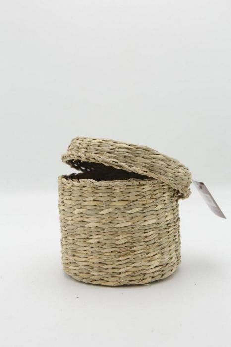 Cane Basket with Lid