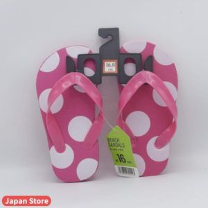 Summer Sleepers / Chappal Pink with White Dots